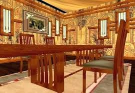 prairie style dining room dining room table designs mission style