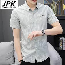 JPK    New summer <b>thin short</b>-<b>sleeved shirt men</b> Korean business ...
