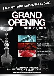 bar grand opening flyer grand opening of red sky hookah lounge my flyers pinterest