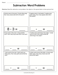 subtraction equations word problems