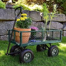 com paylesshere garden carts yard dump wagon cart lawn utility cart outdoor steel heavy duty beach lawn yard landscape garden outdoor