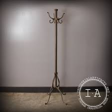 Iron Coat Rack Stand Rare Vintage Industrial Antique Cast Iron Coat Rack Tree Hook Hanger 48