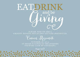Auction Invitations Eat Drink And Be Giving Fundraiser Fundraising Silent Auction
