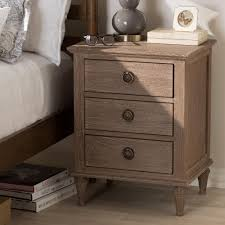 Light Brown Dresser And Nightstand Baxton Studio Venezia 3 Drawer Light Brown Nightstand 28862