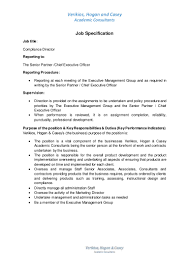 job specification compliance director