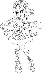 Small Picture Coloring Pages Monster High Coloring Pages Bestofcoloring Monster