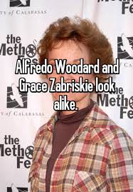 Alfredo Woodard and Grace Zabriskie look alike.