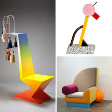 iconic designer furniture. Chair By Peter Shire | A-Tahiti Lamp (Ettore Sottsass For Memphis) Bel Air (Peter Shire) Iconic Designer Furniture