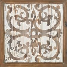 wood pattern square wall art