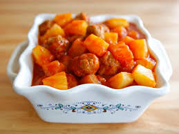 sweet and sour meat delicious sweet and sour meat with pineapple and chili sauce