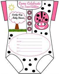 Diy Baby Shower Invitations Kits Tags  Homemade Baby Shower Free Printable Ladybug Baby Shower Invitations