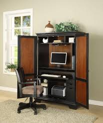 contemporary computer armoire desk computer armoire. Superbe Computer Armoire With Chair And Grey Wall Plus Carpet For Your Home Office Interior Design Contemporary Desk R