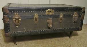 Black Steamer Trunk Coffee Table How To Chalk Paint Your Trunk Coffee Table Trunk Coffee Table