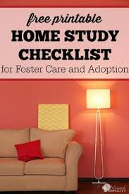 home study checklist for adoption and foster care