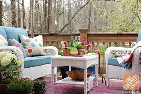 ... Attractive Design Ideas Home Depot Decorating Ideas 1 Deck Decorating  Ideas A Colorful Backyard Deck With