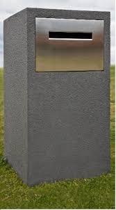 parcel letterbox pillar letter box