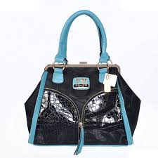 Coach Madison Carrie Embossed Medium Blue Satchels ADD