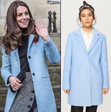 Blue Coat Outerwear What Kate Wore