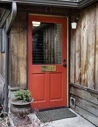 barn front doorRustic Front Door with exterior stone floors in Seattle WA