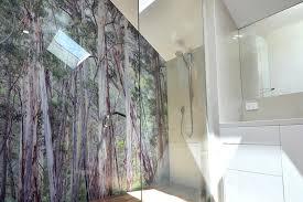 bathroom glass shower wall panels