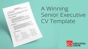 cv video template a winning senior executive cv template eo masterclass part 1 youtube