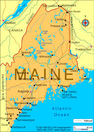 Image result for map of Maine