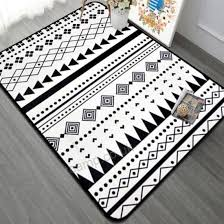 high quality black and white geometric large carpet living room bedroom bay window leisure household blanket