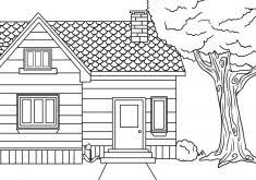 Small Picture Coloring Pages of the White House Coloring Page for Kids