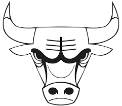 bulls logo black and white. Chicago Bulls Coloring Pages Logo Vector Download Sport Logos Pinterest Collection Intended Black And White