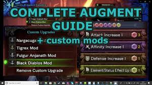 Mhw Iceborne Comprehensive Augment Guide Custom Mods And Materials Required