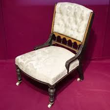 19th century open framed library chair