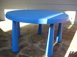 ikea childrens table blue