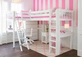 loft beds for kids with desk. Contemporary Desk Maxtrix Corner High Loft With 2 Desks And Dresser White Slatted Inside Beds For Kids With Desk