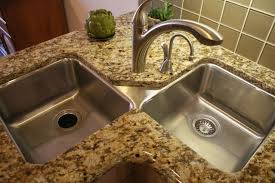 corner double sink kitchens sinks and