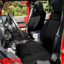 seat covers pair neoprene front jeep
