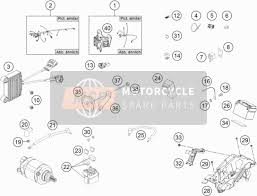 ktm 450 exc f europe 2017 spare parts msp wiring harness