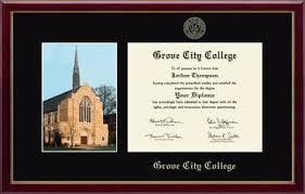grove city college campus scene diploma frame in galleria item  grove city college diploma frame