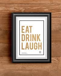freebie eat drink laugh printable wall art kitchen art prints on etsy on eat kitchen wall art with freebie eat drink laugh printable wall art stylish kitchen art