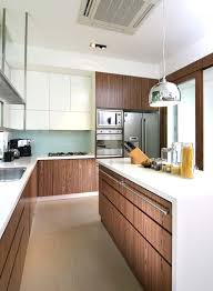 A functional kitchen ...