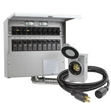 10 circuit 30 amp manual transfer switch kit