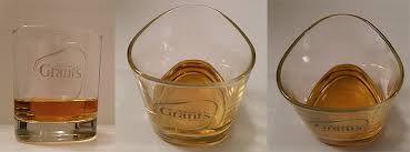 whiskey tumbler glass with william grant s logo