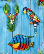 tropical metal wall art sculpture indoor outdoor home decor 3 vibrant designs on metal wall art decor tropical with tropical wall sculptures ebay