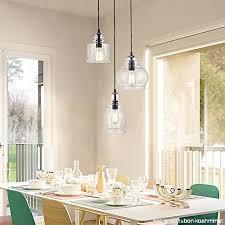 claxy ecopower vintage kitchen linear island glass chandelier pendant lighting fixture 3 lights b013i3oak6