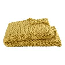 Mustard Yellow Throw Blanket Unique SFMK HOME Throw Blankets