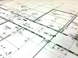 Architect Plans Houses On Architect S Plan Stock Photo