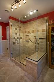 bathroom track lighting master bathroom ideas. Craftsman Master Bathroom With Bathroom, Wainscoting, Ms International Tumbled Travertine Mosaic In Durango Track Lighting Ideas O