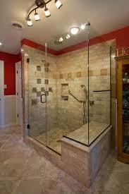 craftsman master bathroom with wainscoting master bathroom ms international tumbled travertine mosaic in durango