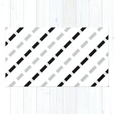 black and white geometric rug black white gray stripes dashed lines abstract geometric rug colours harrietta