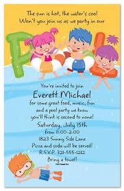 Kids Invitations Free Printable Kids Pool Party Invitations Templates 4 Pool