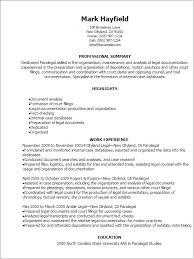 Sample Paralegal Resume Free Resume Templates 2018